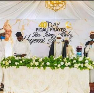 Photos From The 40th Day Fidau Prayers For Abiola Ajimobi