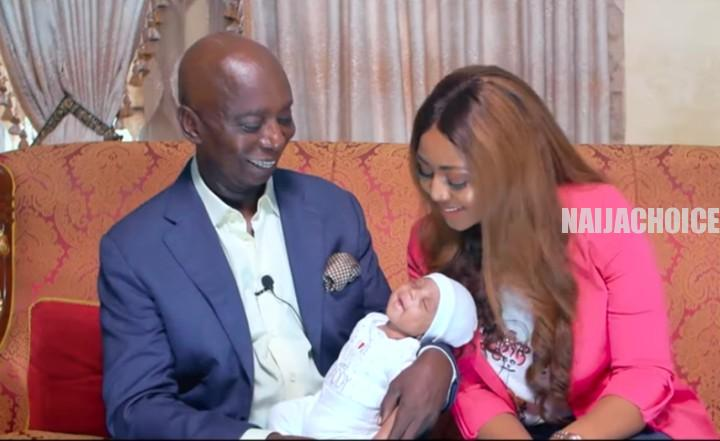 Regina Daniels And Her Husband, Ned Nwoko Reveal Their Son's Face (Photos, Video)