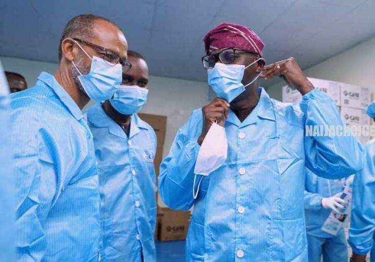 Sanwo-Olu Commissions First Indigenous Medical Face Mask Factory In Lagos (Photos) a