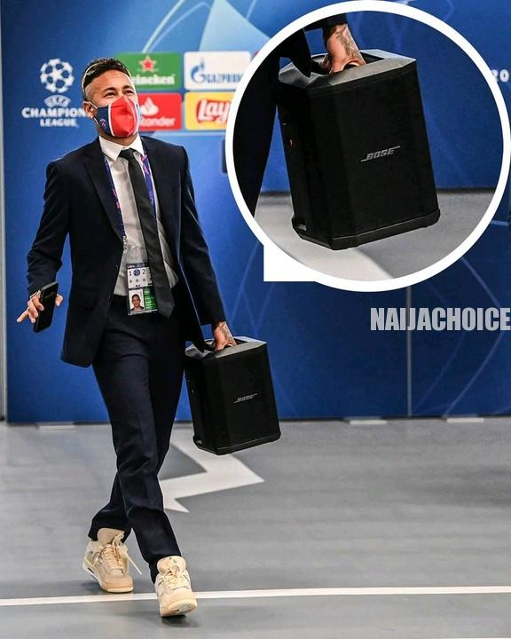 The Moment Neymar Danced Into The CL Final  With His Own Speaker, Only To Lose (Video)