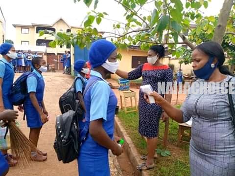 Anambra Schools Resume With Strict COVID -19 Safety Checks (Photos)