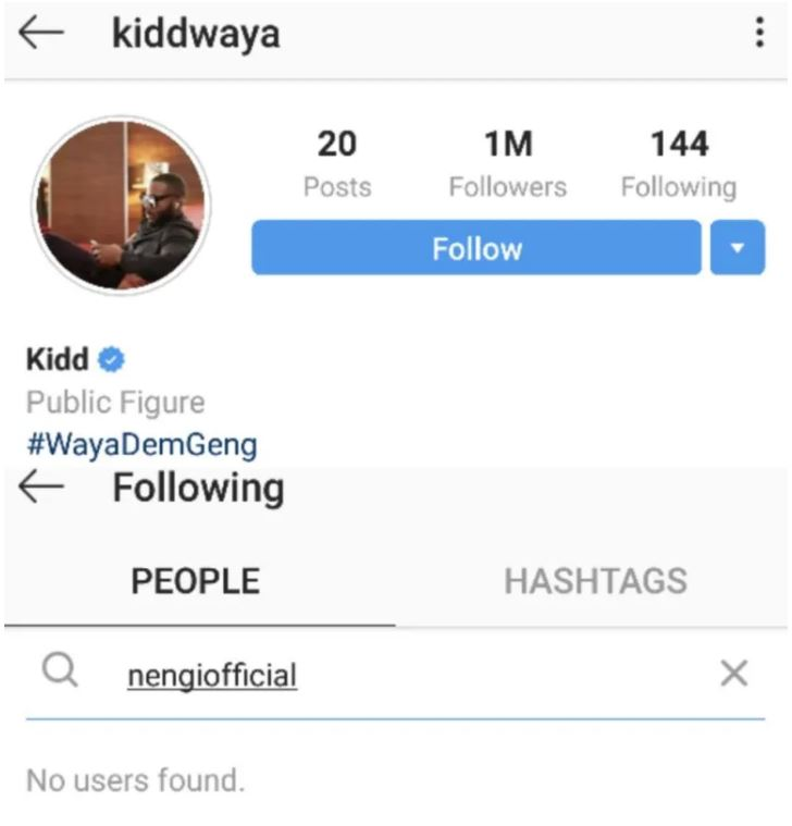 Kiddwaya Unfollows Nengi And Dorathy After They Labelled Him A
