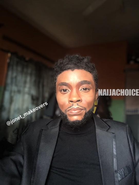 Makeup Artist Transforms Her Face . Looks Like Chadwick Boseman (Photos)