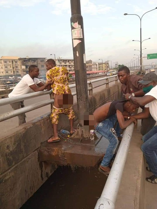 People Caught Defecating In Public , Arrested By Lagos Task Force (Disturbing Pix)