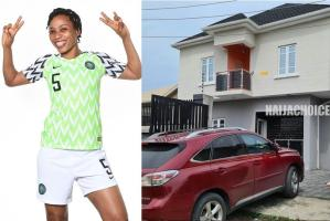 Super Falcons Star, Onome Ebi Shows Off Her Newly Acquired House In Lagos (Photos)