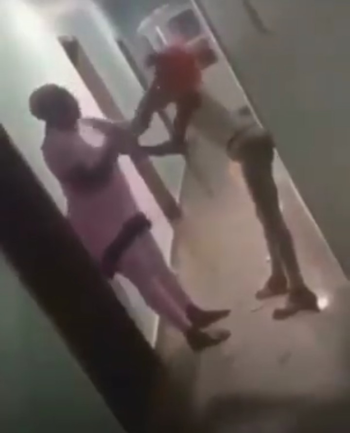 Nigerian Mother Caught Her Daughter In A Hotel Room & Disgraced Her (Pix, Video)