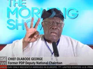 'Seyi Tinubu Controls All The Signage For Lagos' - Chief Bode George (Video)