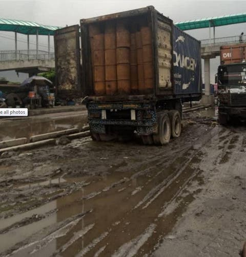 20- Foot Container Of Suspected Toxic Waste Abandoned In Lagos