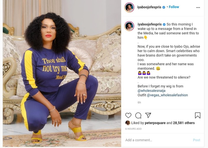 #EndSARS: Iyabo Ojo Alleges Threat From Government Over Participation In Protest