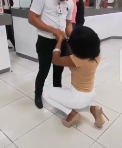 Lady Proposes To Her Boyfriend At His Workplace (Video)