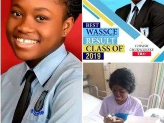 Video Of 17 - Year- Old Best WAEC Candidate , Chisom Chukwuneke Before Her Death