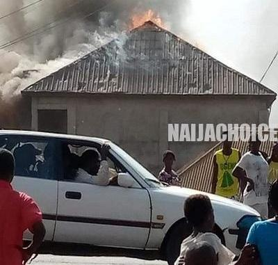 Youths Set Church Ablaze Over Missing Private Parts In Benue