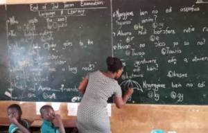 Oyo Teachers Write Exam Questions On Blackboards To Protest Unpaid Grants