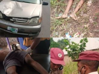 Tragedy As Speeding Driver Losses Control And Kills Child In Anambra (Photos)