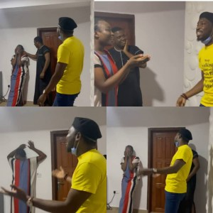 See The Moment Timi Dakolo Stunned Newly Married Lady With Surprise Performance In Her Home (Video)
