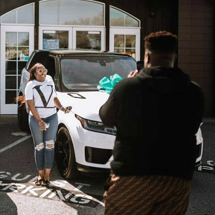 Davido's Brother, Adewale Buys A Range Rover For His Wife, Kani On Her Birthday (Pix)