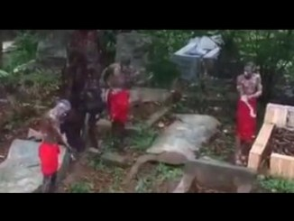 Video Of Suspected Yahoo Boys Bathing On A Burial Ground