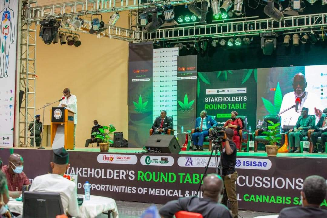 Legalise Cultivation Of Cannabis - Governor Akeredolu Tells FG (Pictures)