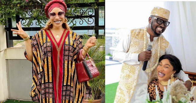 Tonto Dikeh Reacts To Leaked Calls Of Her Begging Prince Kpokpogri