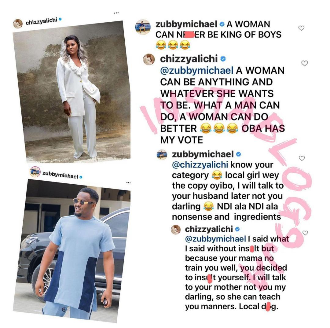 Zubby Michael & Actress Chizzy Alichi Fight Over