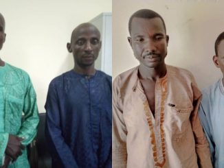 Photo Of Four Men Who Were Nabbed In Adamawa For Extorting Victims With Kidnap Threat
