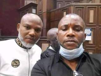 Photographs Of Nnamdi Kanu In Court Today