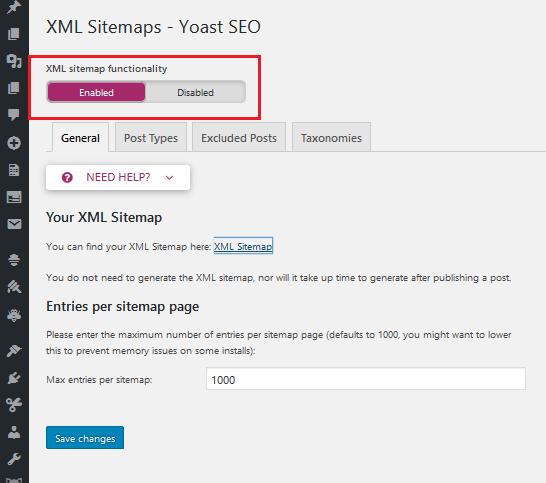 configuring sitemaps for WordPress SEO