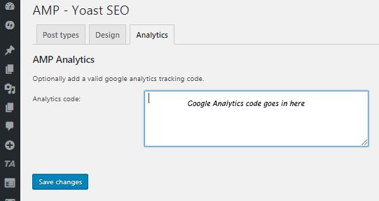 analytics tracking code to amp