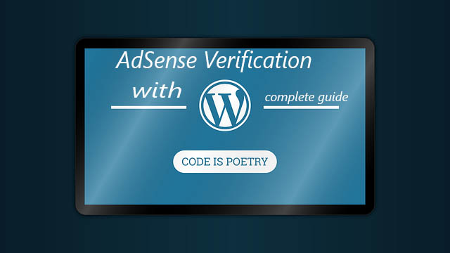 AdSense verification with WordPress complete guide