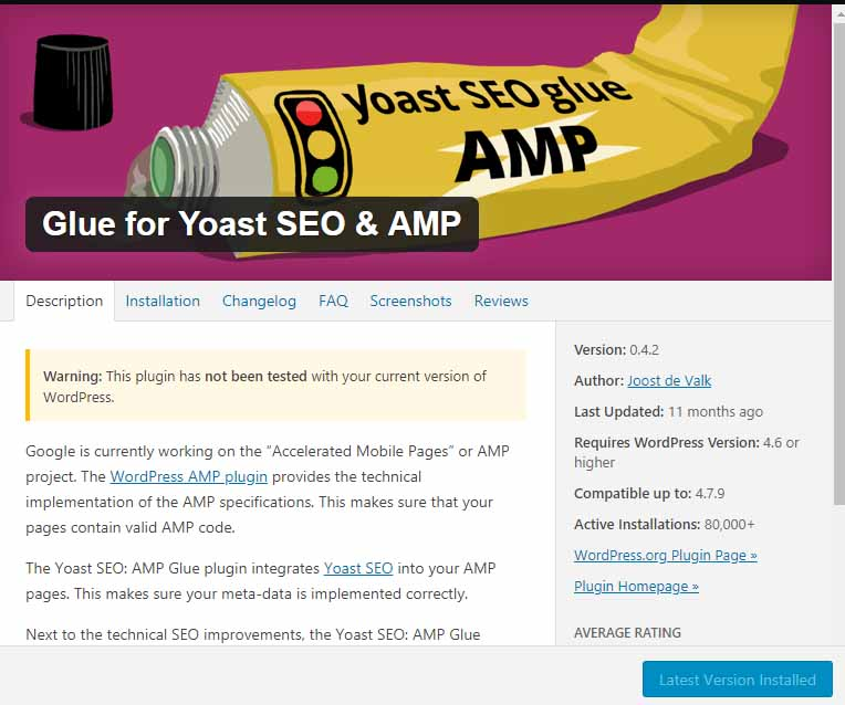 glue for yoast and AMP