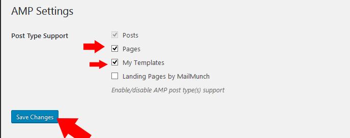 AMP settings
