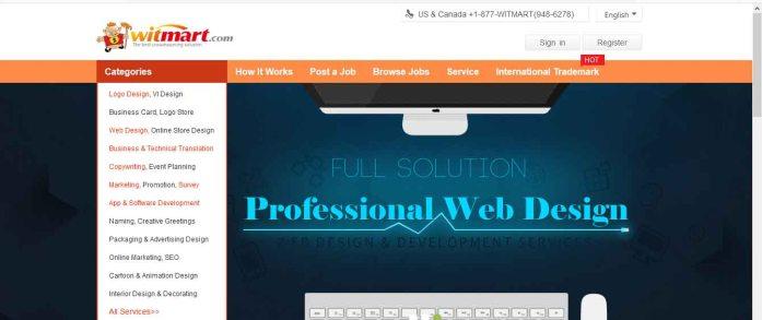 Homepage of witmart.com