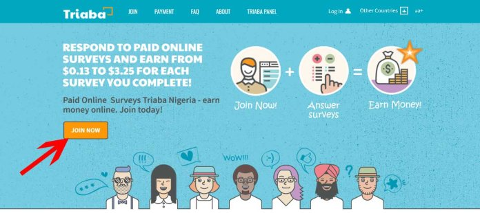 Triaba: respond to online survey and earn from $0.13 to $3.25 for each you complete.