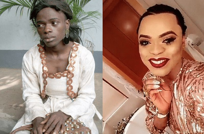 Bobrisky's before and after photo