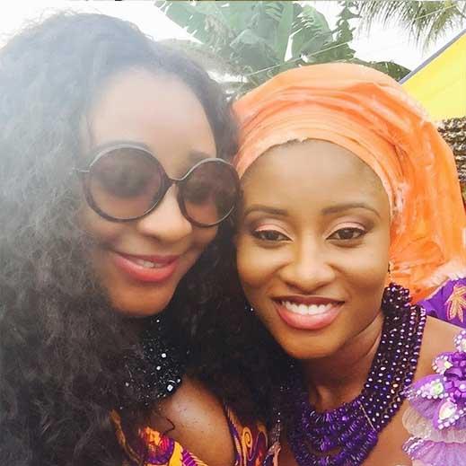 Ini Edo (left) and sister