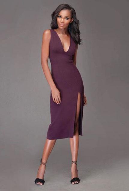 Agbani Darego looks dazzling in a slim gown