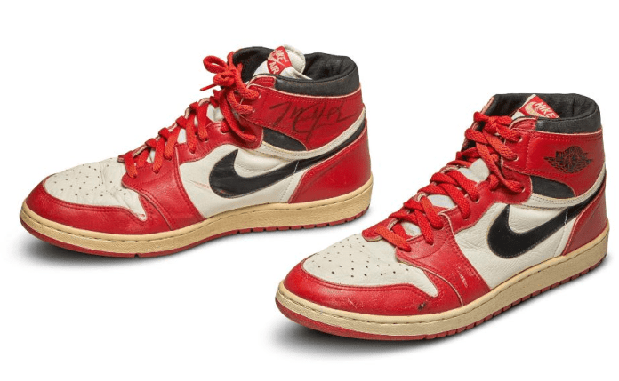 Michael Jordan's sneaker from 1985 sells for record-breaking ₦216m - Sotheby's says