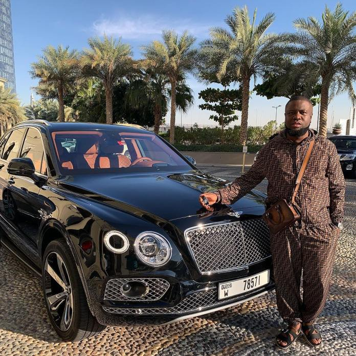 Hushpuppi bought a Bentley Bentayga to mark Valentine's Day.