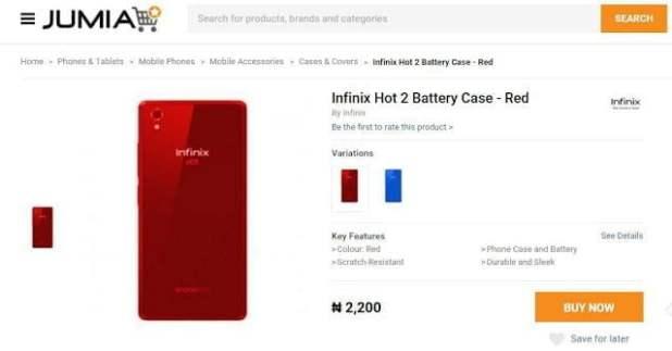 New Infinix Hot 2 3000mAh Battery now Available On Jumia?