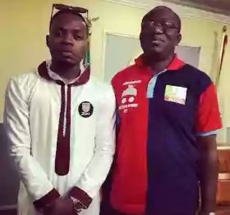 Badesst Guy Ever Liveth! See Olamide Baddo Chilling With The Governor Of Ekiti
