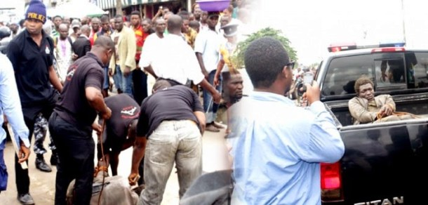 madman stab police lagos 700x335 Photo: Mad Man Stabbed Police Officers In Alakija Lagos
