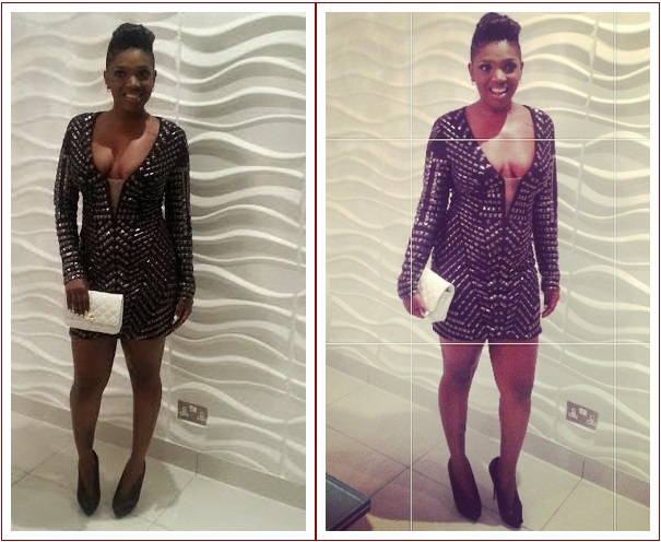 annie Annie Idibias Lovely Red Carpet Look Last Night (Photos)