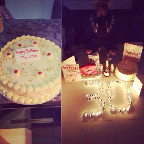 annie cake Congrat:  Annie Idibia Turns 30 + SEE The Cake 2Face Gave Her (Photos)