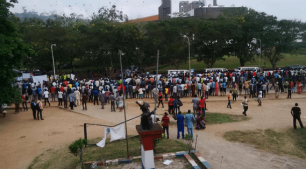 oau students OAU Students Protest Over President Jonathans Visit [See Photos]