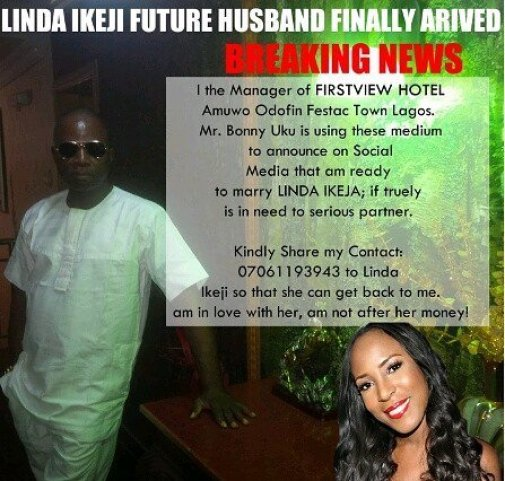 Linda Ikeji Future Husband Finally Arrived? — Lagos Hotel Manager Wants To Marry Her