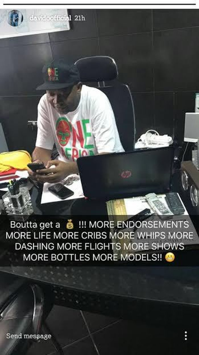 More Money, as Davido Celebrates New Deal