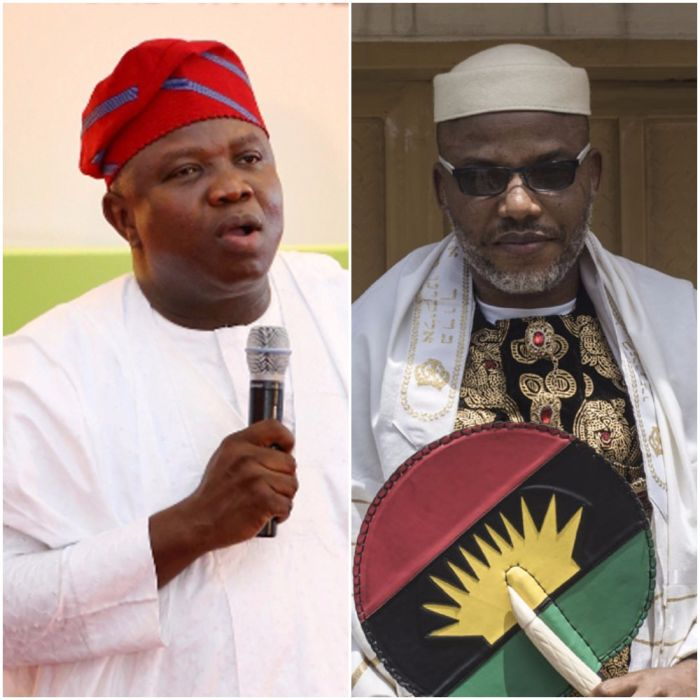 Image result for Ambode and Nnamdi kanu