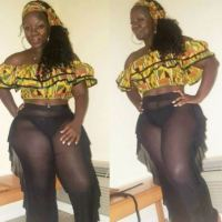 Hulala! Curvy Woman Flaunts Her Pant!es In See-through Outfit (Photos)
