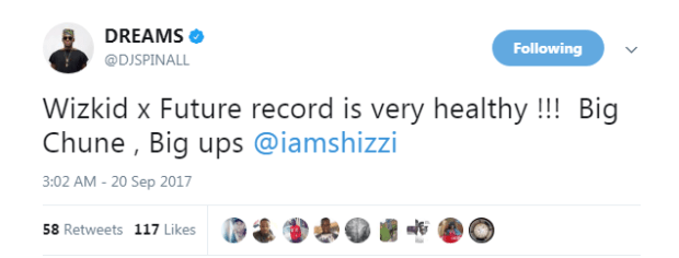 """2 11 - Celebrities & Fans React To Wizkid's """"Everytime"""" Collaboration With Future (See Reactions)"""