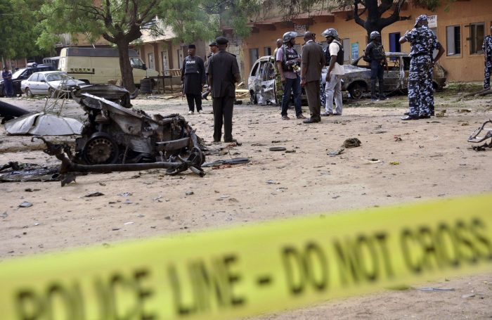 bomber 700x455 - Breaking: Five Killed As Suicide Bomber Blew Self Up In Maiduguri Mosque